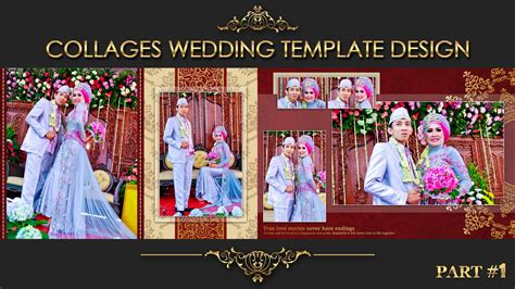 wedding collages templates collage wedding album 2 for psd template view in
