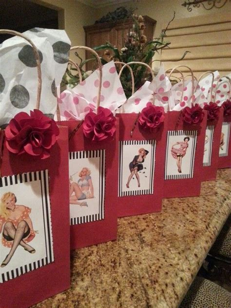 goodie bags for a pin up theme ideas goodie bags bag and