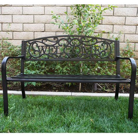 metal yard benches outdoor bench patio garden furniture deck metal porch seat