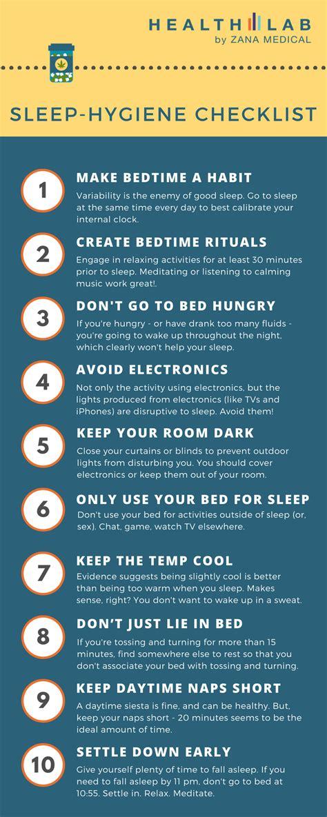 sleep hygiene free download sleep hygiene checklist