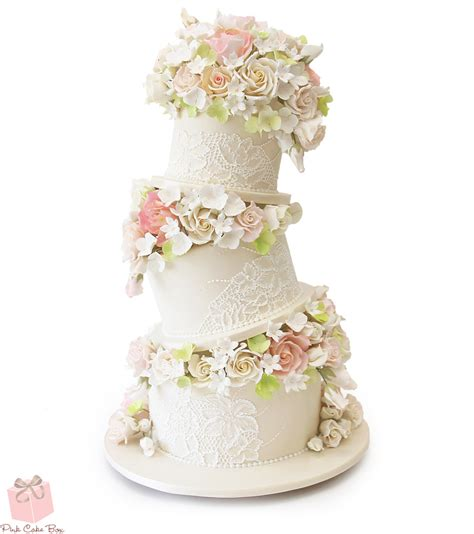 Places That Make Wedding Cakes by Topsy Turvy Floral Wedding Cake 187 Wedding Cakes