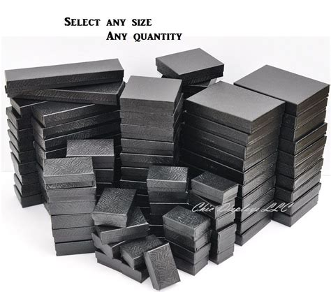 how to make jewelry gift boxes lot of 20 50 100 pcs black jewelry boxes cotton filled