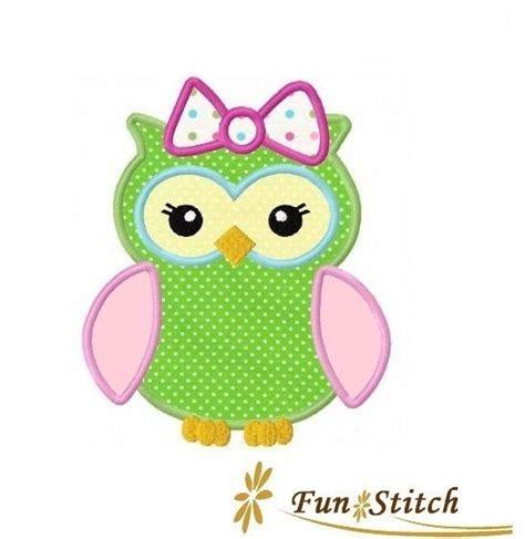 owl embroidery design applique girl owl applique machine embroidery design instant