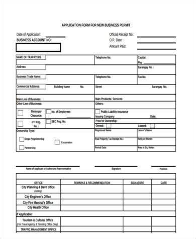 8 business application form sles free sle