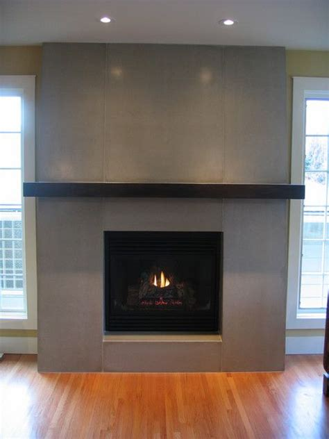 contemporary fireplace tiled surround with mantle but