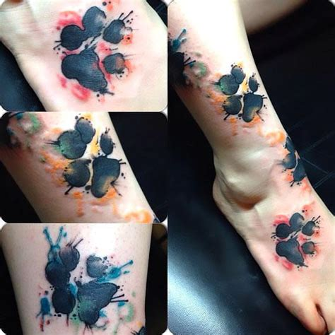 puppy paw print tattoo idea