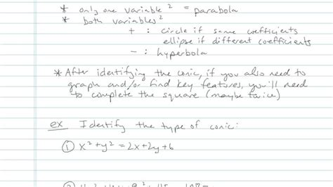 conic section formulas conic section formulas math videos by brightstorm
