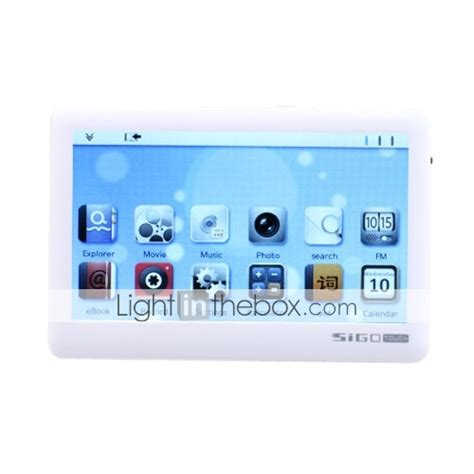 Touch Screen Maxtron Mg 272 White sigo 4 3 inch touch screen media player 8gb 720p black white 199919 2018 53 19