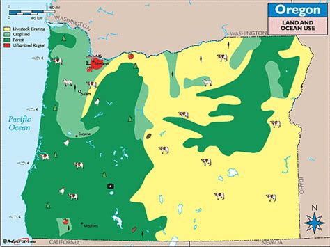 map of oregon lands oregon land use map by maps from maps world s