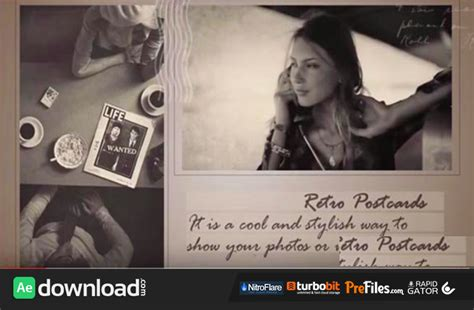 videohive templates after effects project files videohive retro postcards free download free after