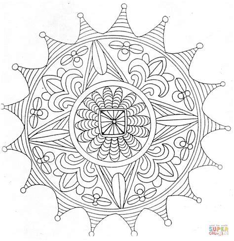 full page coloring mandalas mandala coloring page supercoloring com