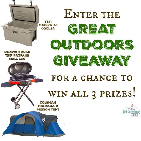My Great Giveaway - the great outdoors giveaway one giveaway three prizes