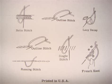 types of hand sewing crafts