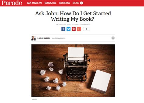 how did get started ask how do i get started writing a book o leary