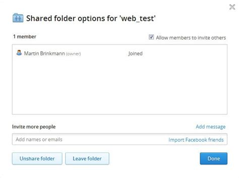 dropbox shared folder dropbox sharing now with turn off option ghacks tech news