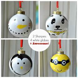 Easy To Make Christmas Decorations At Home by Sharpie Ornaments Easy Diy Ornaments For Your Tree