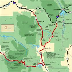 top of the rockies map america s byways