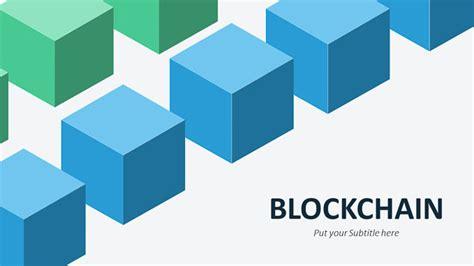 Blockchain Illustrations Slide Ocean Blockchain Ppt Template