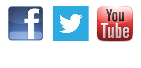 youtube twitter facebook 16 social media facebook twitter youtube icons png images