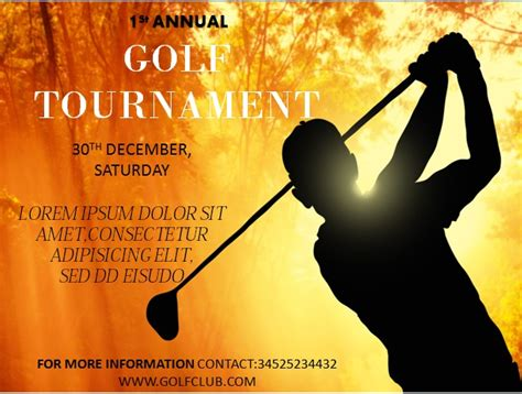 15 Free Golf Tournament Flyer Templates Fundraiser Charity Flyers Demplates Golf Flyer Template