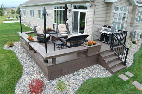Ground Level Patio Ideas by Deck Design Pictures Building A Deck Fargo Moorhead
