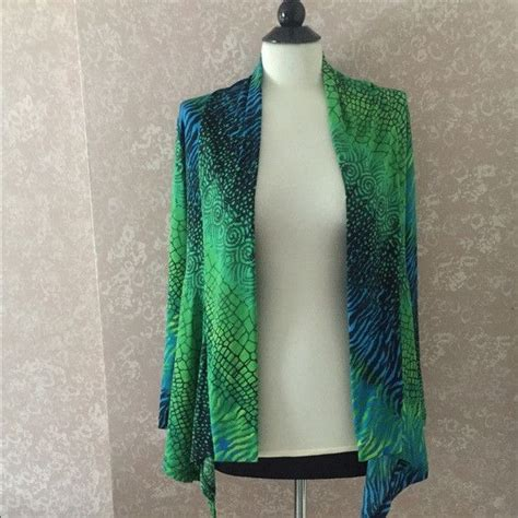 Stylish Sweatpants Magnificents jostar open front cardigan jacket blue green womens medium m magnificent shopping
