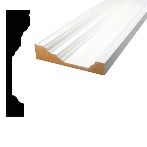 Home Depot Chair Rail by Alexandria Moulding 3 4 In X 3 In X 96 In Primed Mdf