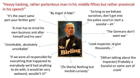 15th june themes in an inspector calls revision an inspector calls character quotes