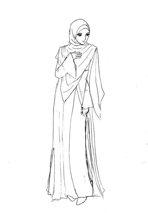 cara menggambar anime wanita bercadar muslimah by yasashi87 on deviantart