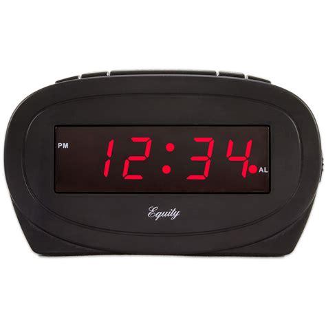 equity  la crosse  black led alarm clock