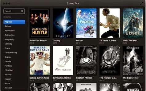 film streaming stream torrent movies online using popcorn time
