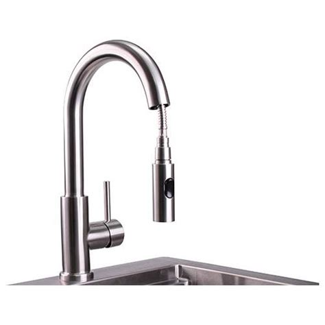 pacific sales kitchen faucets lynx professional outdoor gooseneck pull faucet at pacific sales