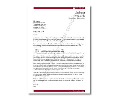 accounting cover letter template robert half