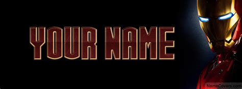 ironman text name cover facebook timeline cover