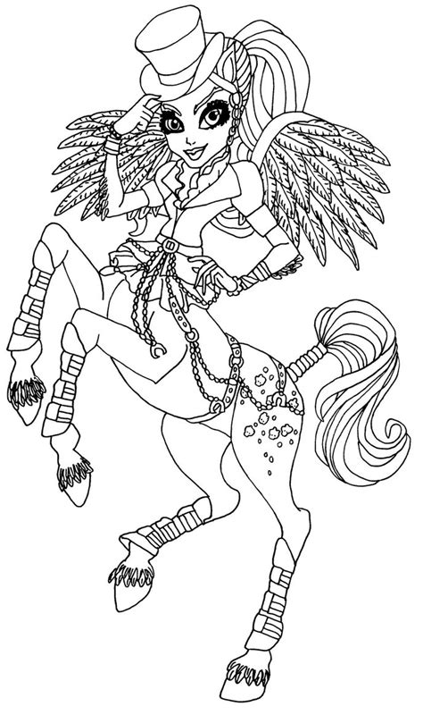Monster High Avea Trotter Coloring Pages | avea trotter by elfkena on deviantart
