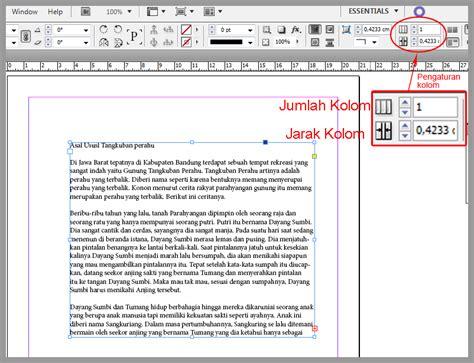 layout koran indesign membuat kolom pada teks di indesign belajar indesign