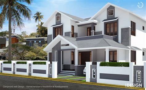 Kerala Home Design October 2015 by Idesign Calicut Compound Wall Concept
