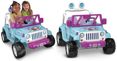 power wheels jeep frozen amazon power wheels disney frozen jeep wrangler 199