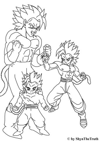 Super Saiyan in Young, Teenage and Mature coloring page