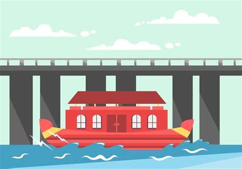 kerala boat icon kerala boat house vector download free vector art stock