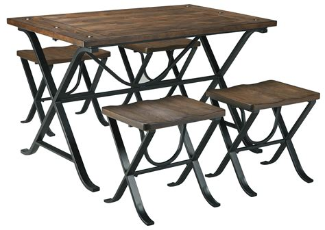 industrial dining table and chairs industrial style rectangular dining room table set by