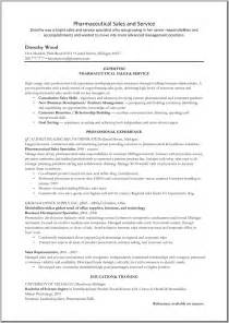 Biotechnology Resume Sles by Pharmaceutical Sales Resume Exle Resume Sles