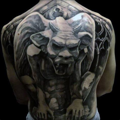 gargoyle tattoos 70 gargoyle designs for statue ideas