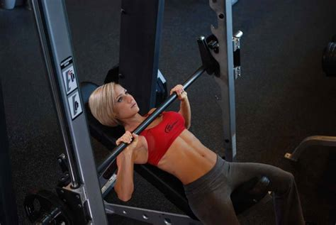 using smith machine for bench press smith machine incline bench press exercise guide and video