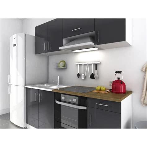 cuisine complete evo cuisine compl 232 te 1m80 gris laqu 233 haute brillance