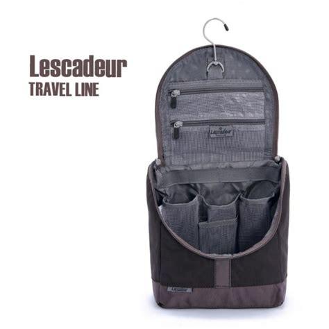 Mens Shower Bag by Mens Brown Travel Hanging Hook Toiletry Wash Shower Bag Organizer Kit Ebay