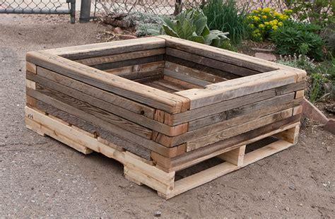 Reclaimed Stacked Palette Wood Planter 4 Custom By Reclaimed Wood Planter