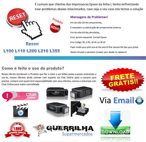 reset epson l800 r 5 00 em mercado livre reset epson almofada e tinta l100 l110 l200 l210 l355 l365