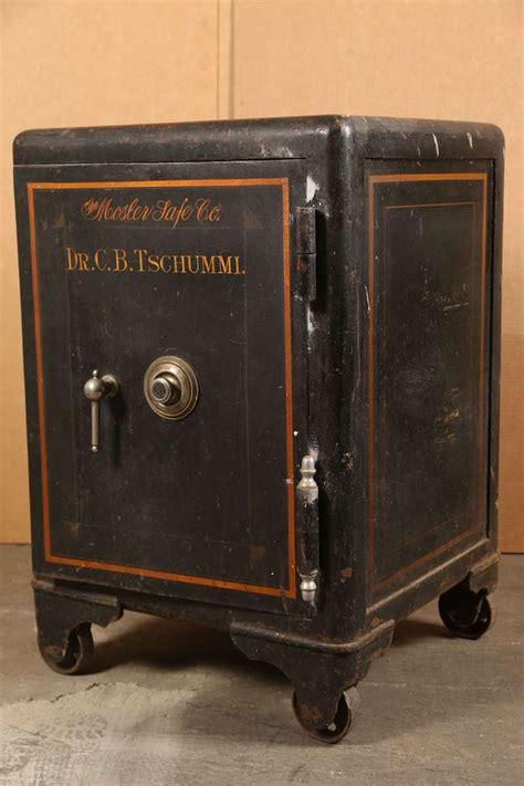 vintage industrial cast iron mosler safe image  antique