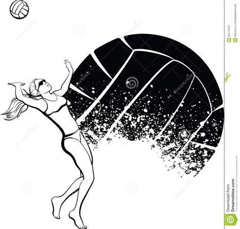 clipart pallavolo giocatore di volley femminile con la palla dello